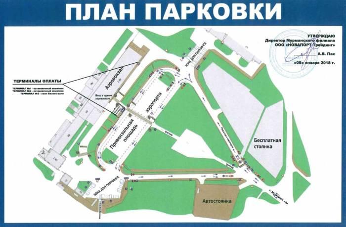 План парковки
