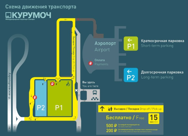 схема парковки аэропорта Самары