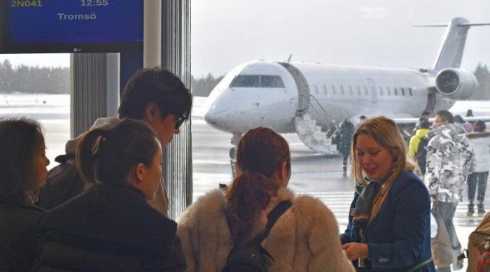 Посадка в аэропорту Осло