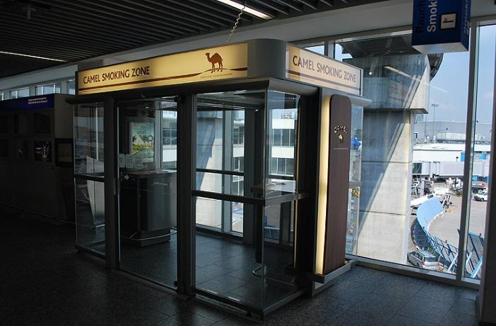 Зоны курения в аэропорте Франкфурт-на-Майне