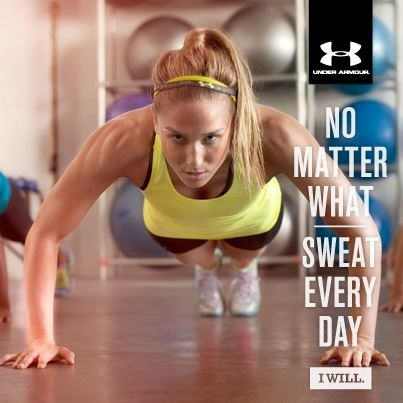 Sweat every day UnderArmour {PilotingPaperAirplanes.com}