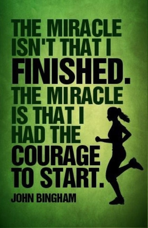 Courage to start #courage #motivation #inspiration #run {PilotingPaperAirplanes.com}