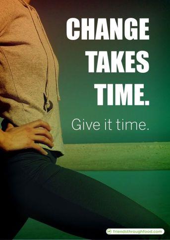 Change takes time. #motivation #inspiration #run {PilotingPaperAirplanes.com}