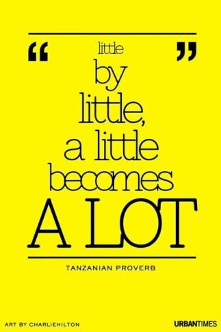 A little becomes a lot #motivation #inspiration #run {PilotingPaperAirplanes.com}