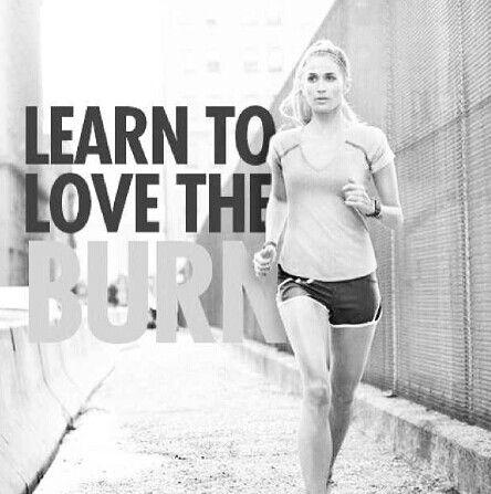 Learn to love the burn #Inspiration #Training #Motivation #run #fitness {PilotingPaperAirplanes.com}