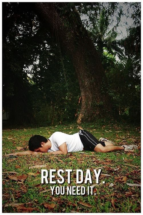Rest day: You need it #restday #run #fitness #workout #motivation #inspiration {PilotingPaperAirplanes.com}