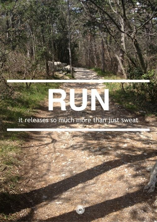 Run. It releases so much more than just sweat. #motivation #inspiration #fitness #health #run #running {PilotingPaperAirplanes.com}