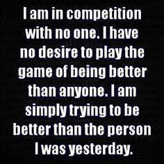 In competition with no one. #motivation #inspiration #fitness #health