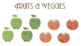 Fruits & Veggies card {Piloting Paper Airplanes}