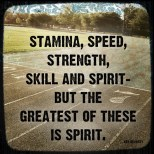Stamina, speed, strength, skill and spirit – but the greatest of these is spirit. {Piloting Paper Airplanes}