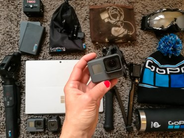 GoPro Family meet up! All my GoPro goodies, my Karma Grip, extra power banks (that I can use for my mobile phone too) mounts etc :)