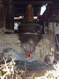 Fireplace under rum distillery