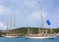 The classic yachts were beautiful