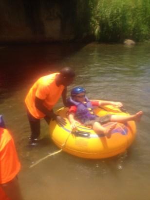 Ronan getting on the water