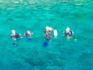 Randy, Ryan, Paulette, John & Dive Master, Pitons, St. Lucia dive