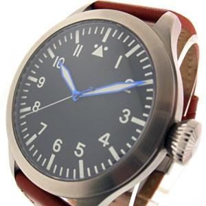 TICINO 47mm Automatic Pilot Watch w/ Sapphire Crystal / SuperLuminova