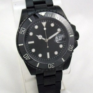 Custom-built PVD Sub Diver Watch Ceramic Bezel