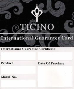 Ticino Warranty Card
