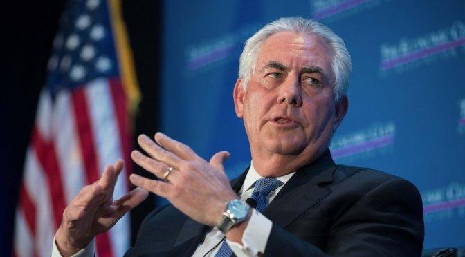 No hay condiciones para negociar con Corea del Norte: Tillerson