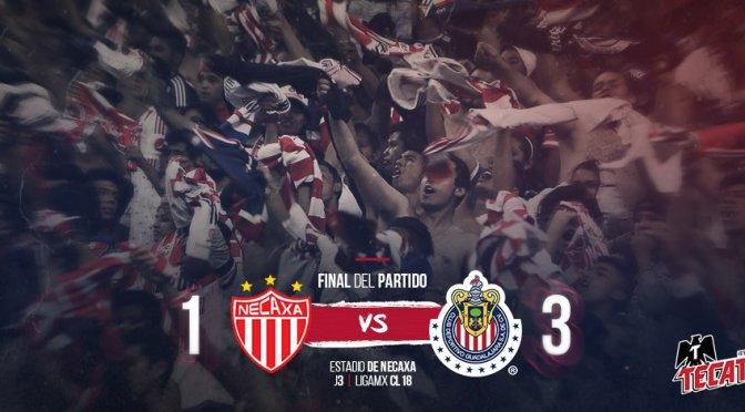 Chivas logra primer triunfo del Clausura 2018 ante Necaxa