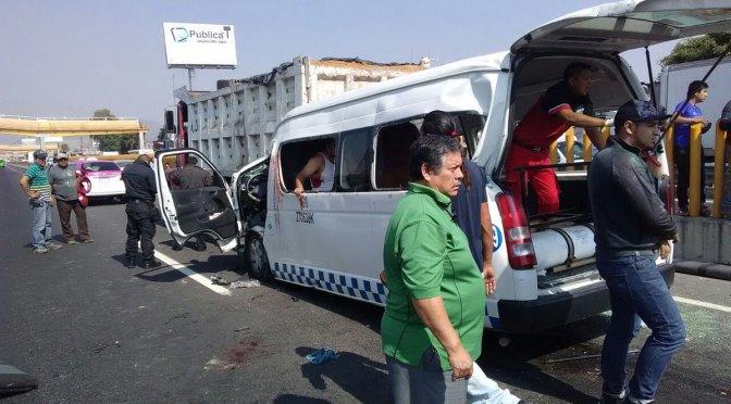 Choque en la México-Puebla deja 3 muertos