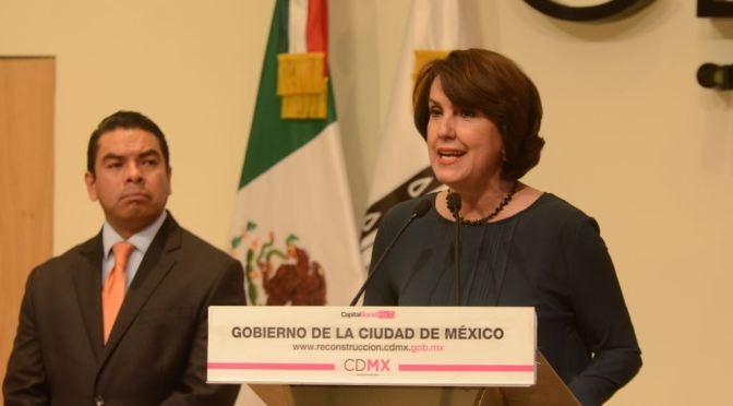 Renuncia Patricia Mercado a secretaría de Gobierno de la CDMX; llega Ramón Amieva