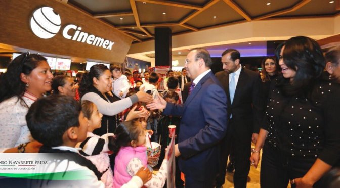 Gobierno federal y Cinemex impulsan campaña de protección civil