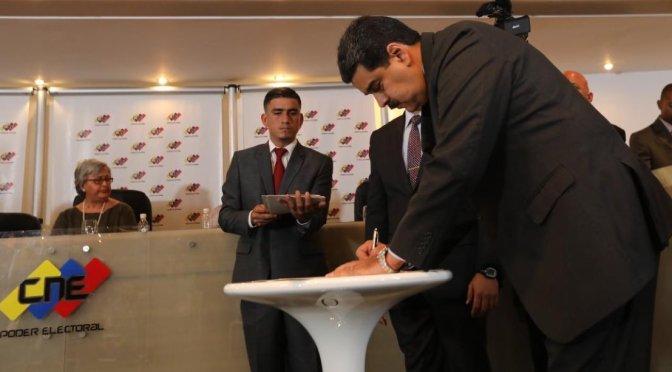 Candidatos firman acuerdo de garantías electorales en Venezuela