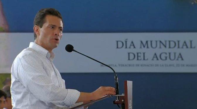 14 millones de mexicanos más tienen acceso al agua, destaca Peña Nieto