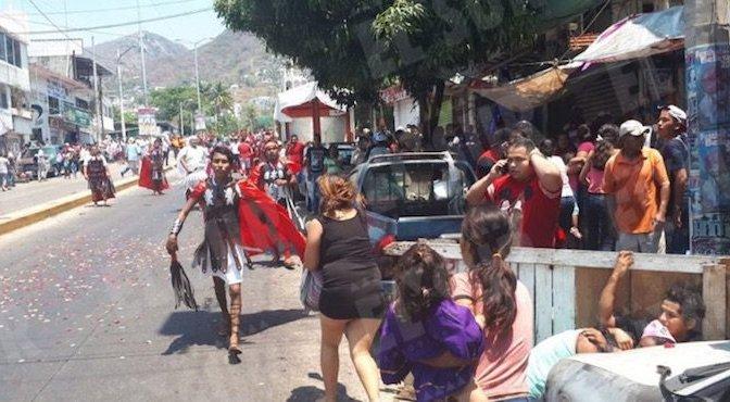 Balacera irrumpe representación de Viacrucis en Acapulco