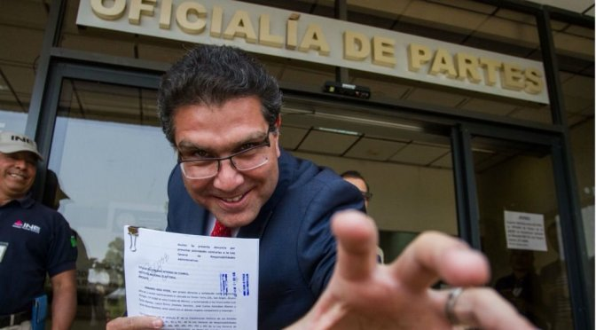 Ríos Piter suspende revisión de firmas de apoyo ciudadano en el INE
