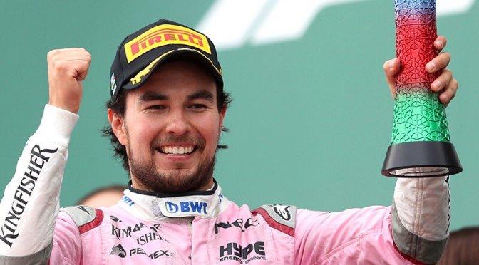 """""""Checo"""" Pérez es tercero en Gran Premio de Azerbaiyán y Hamilton lo gana"""