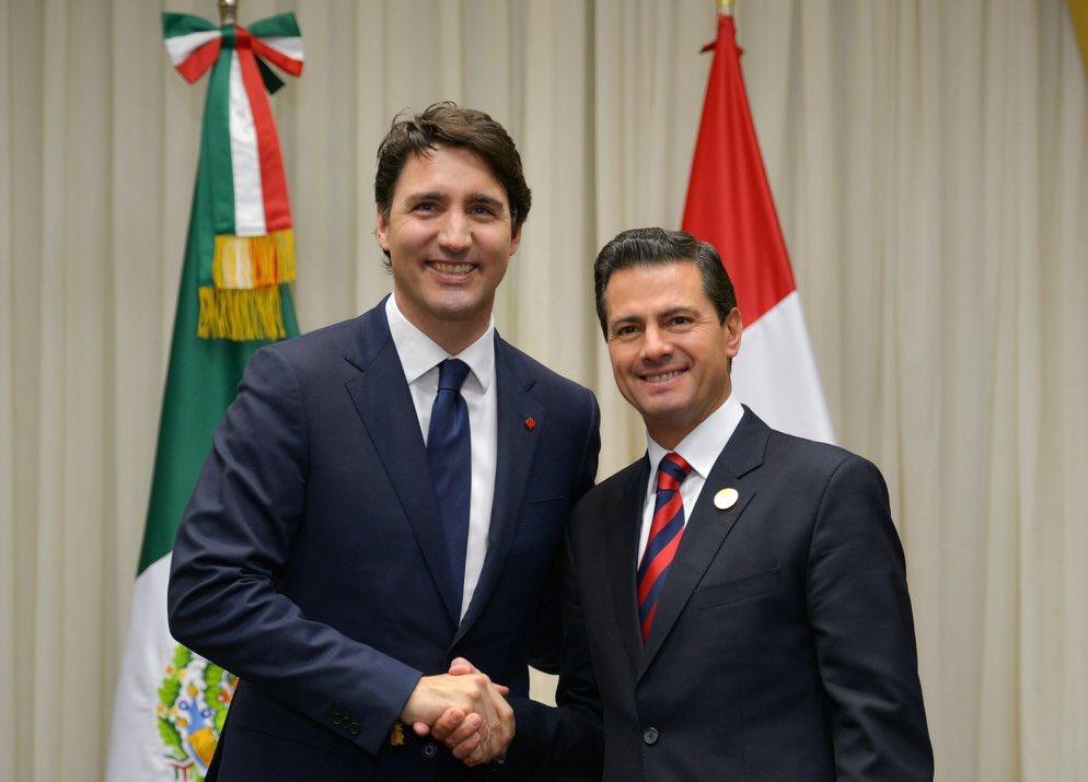 Peña Nieto y Trudeau acuerdan avanzar en trabajo técnico del TLCAN