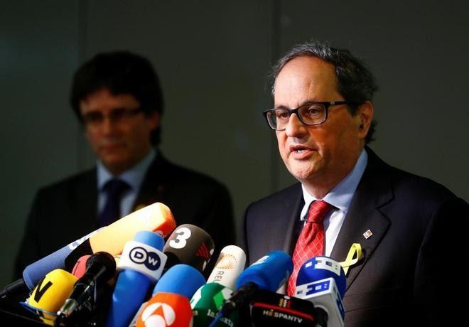 Gobierno catalán gobernará para todos: Puigdemont y Torra