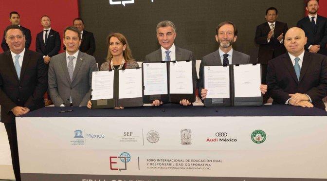 Acuerdan Educación y Audi México implementar Modelo de Formación Dual