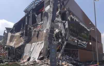 Empresas colaboran para esclarecer causas del derrumbre en Plaza Artz