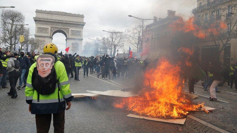 Imágenes de las protestas en París