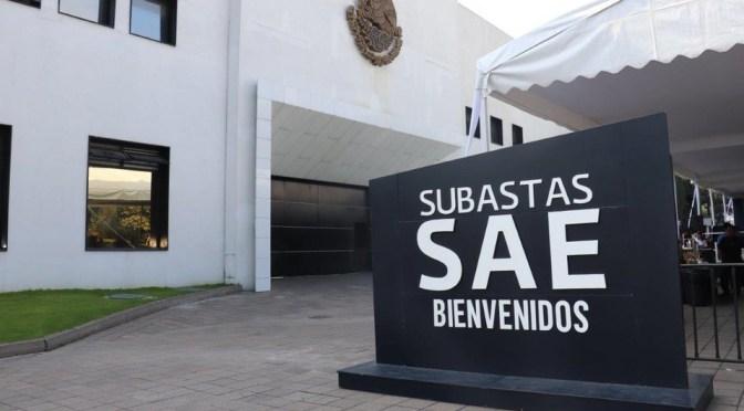 Nueva subasta del SAE pretende recaudar 21.8 millones de pesos