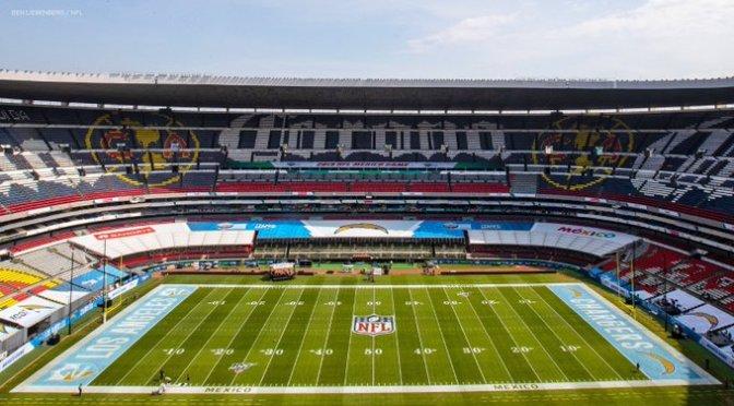 El Estadio Azteca se prepara para el Chiefs vs Chargers