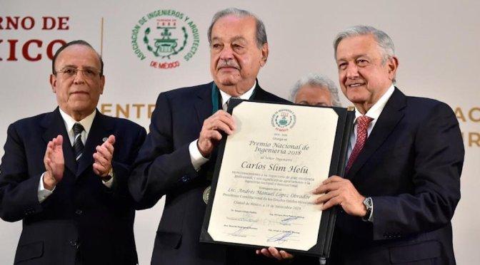 Carlos Slim recibió el Premio Nacional de Ingeniería