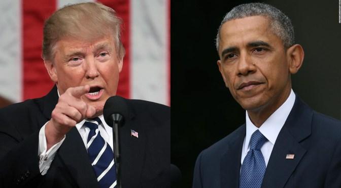 Sin pruebas, Trump acusa al gobierno de Obama de traición