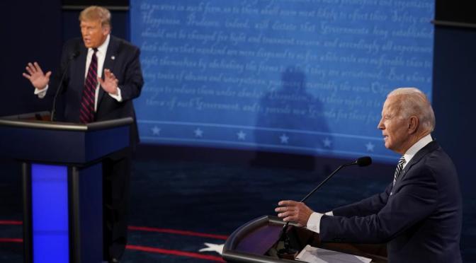 Primer debate Trump-Biden se concentra en problemas de EU; de México, ni una palabra