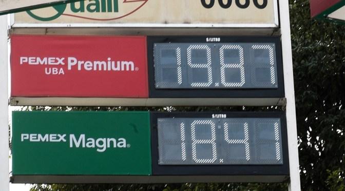Promueven candado a precio de gasolina