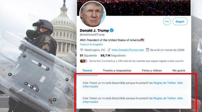 Facebook, Instagram y Twitter bloquearán las cuentas de Trump hasta que deje la presidencia