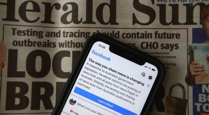 Facebook vuelve a activar las noticias en Australia y firma acuerdos de contenido