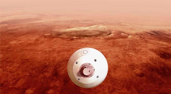 NASA difunde video del aterrizaje de sonda en Marte