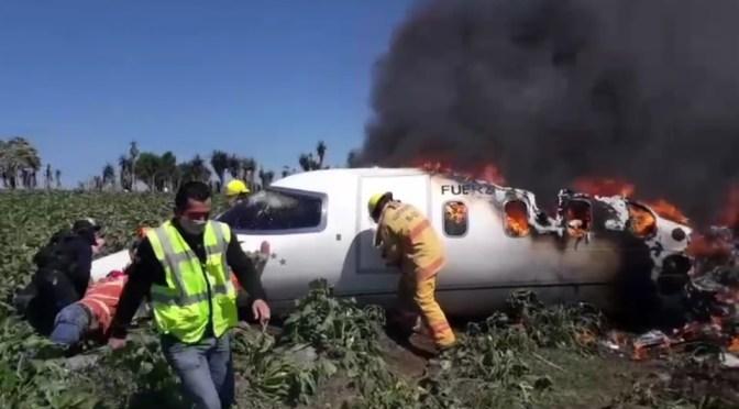 Mueren 6 militares en accidente de avión en Veracruz