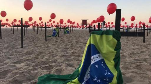 Brasil registra más de 1,300 muertes por Covid-19 por quinto día consecutivo