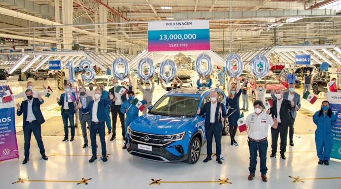 Volkswagen de México establece un nuevo récord de producción, con la manufactura de 13 millones de vehículos