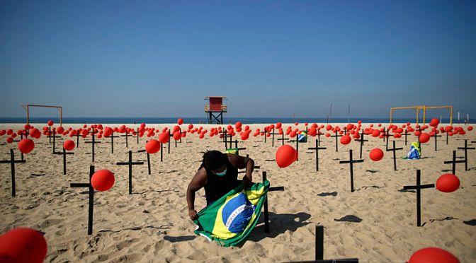 Brasil registró 3,808 muertes por COVID-19 el martes